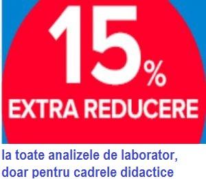 - 15 EXTRA REDUCERE DOAR PENTRU CADRELE DIDACTICE - Concret pentru cadrele didactice