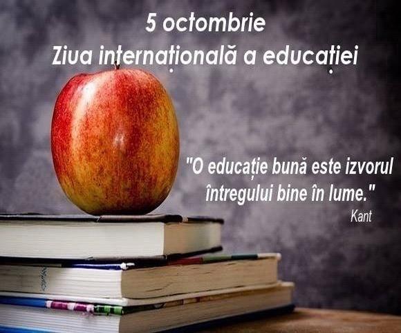 - 5 octombrie ziua mondiala a educatiei 2017 - 5 octombrie, Ziua Mondiala a Profesorilor
