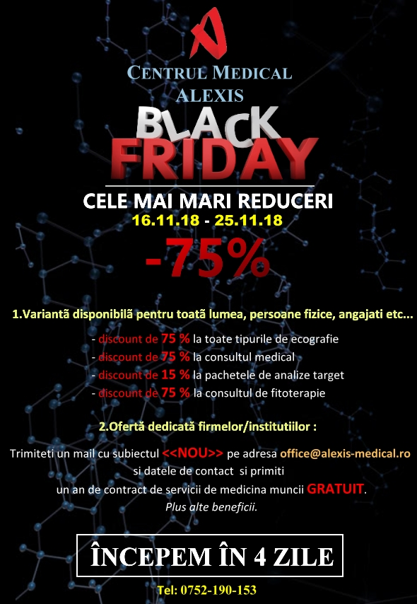 - BLACK test - Incepem in 16.11.