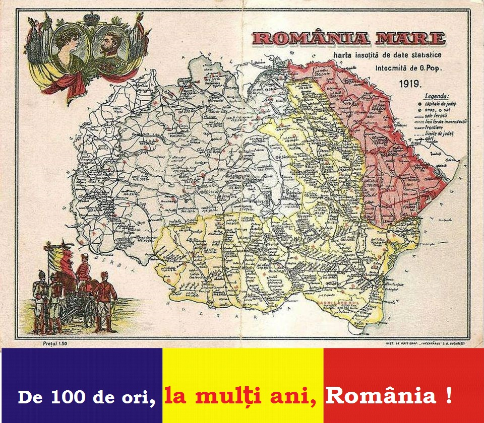 - la multi ani Romania 2018 - De 100 de ori, la mulți ani, România !