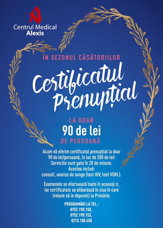 - Alexis Certificat Prenuptial cel mai bun tarif - Certificat prenuptial +alte bonificatii-                      Suntem aici pentru voi !