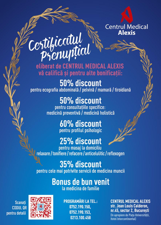 - Alexis Prenuptial alte bonificatii Bucuresti - Certificat prenuptial +alte bonificatii-                      Suntem aici pentru voi !