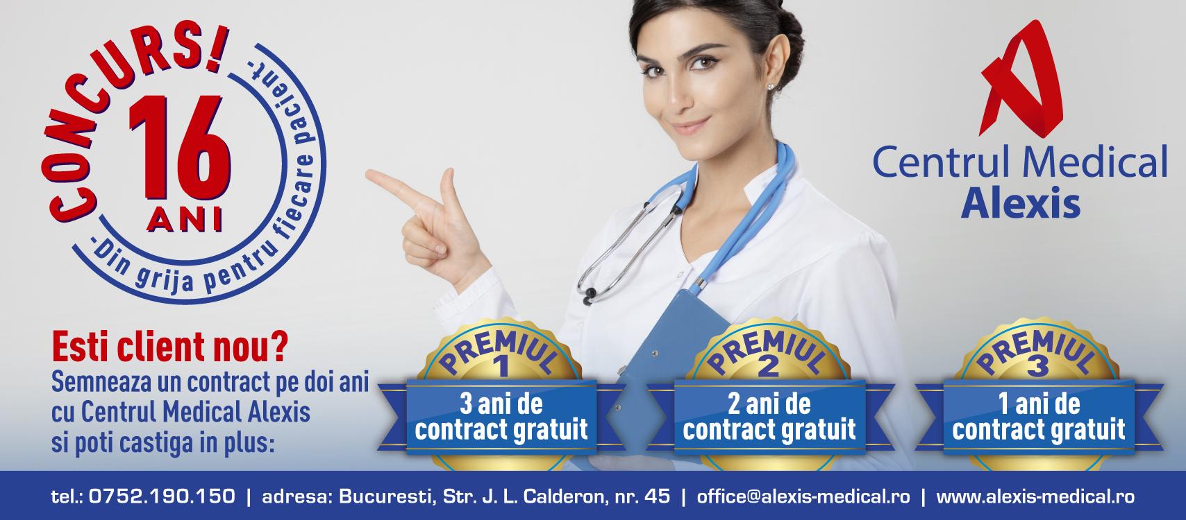 - 16 ani concurs special CMAlexis Bucuresti - ⛑️Vrei servicii de medicina muncii GRATIS pentru 1095 de zile❓
