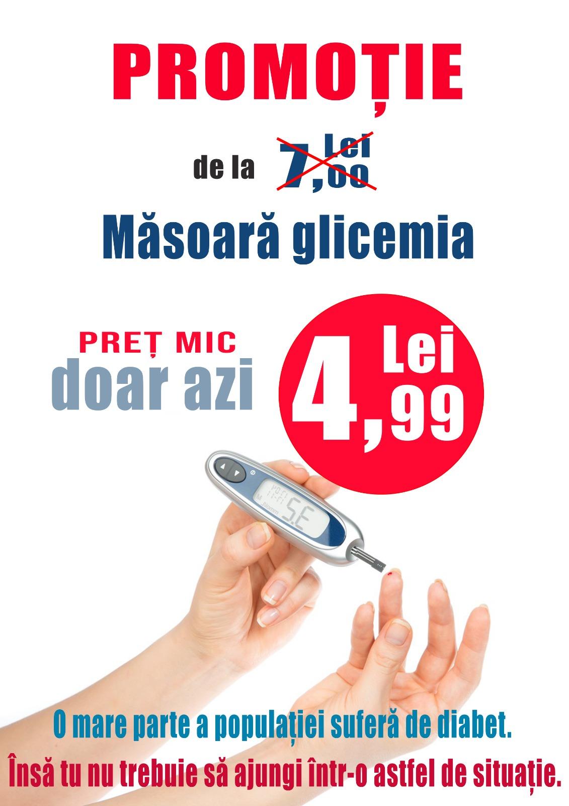 - glicemie tarif special azi CM Alexis Bucuresti - Determinarea glicemiei