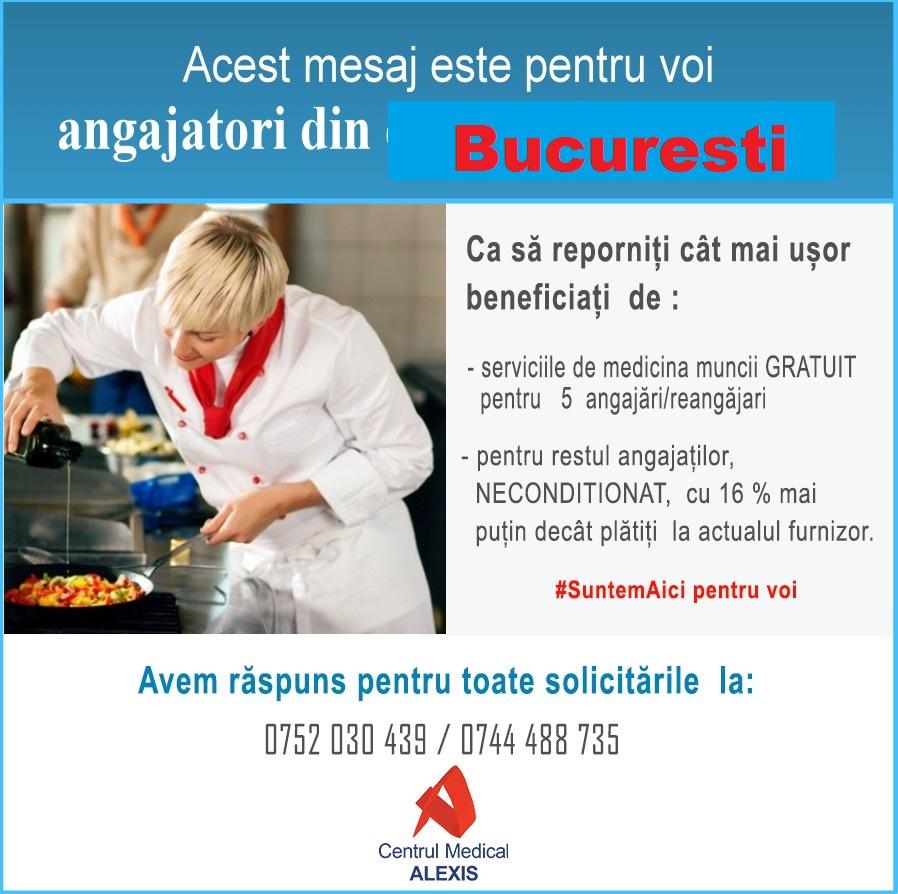 - masuri repornire horeca suntem aici pentru voi CM Alexis Bucuresti - Medicina muncii – serviciu special pentru antreprenorii din Bucuresti
