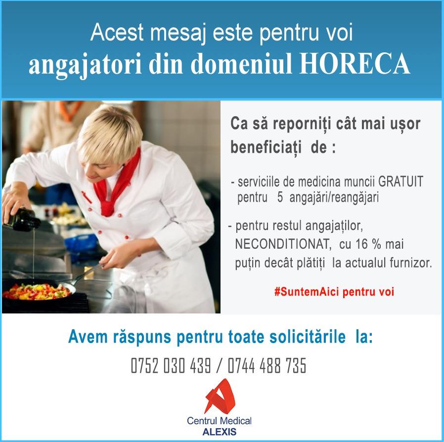 - masuri repornire horeca suntem aici pentru voi CM Alexis - Oferta speciala de medicina muncii pentru antreprenorii HORECA
