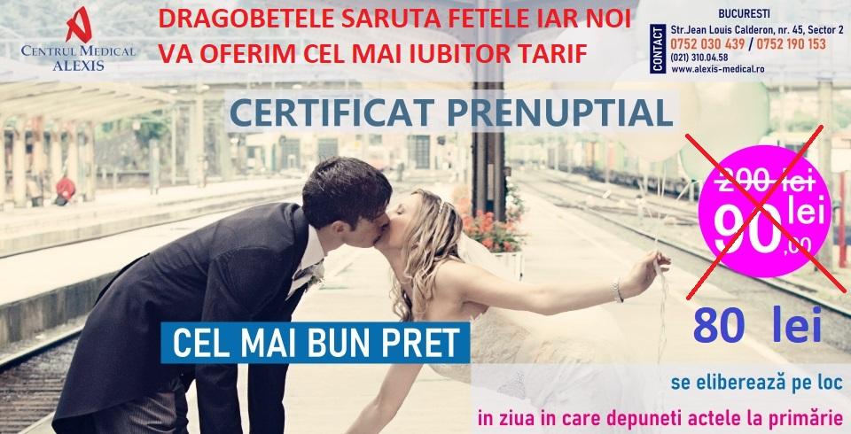- tarif certififcat prenuptial Dragobete 2021 - 🤩La certificatul prenuptial, reducere suplimentara in numele iubirii